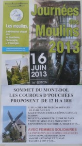 L'affiche de la fête nationale des moulins 2013