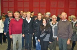 Le conseil d'administration aux complet avec au centre Mme le maire de Mont-Dol